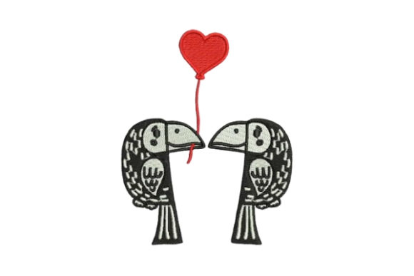 Lover Parrots Valentine's Day Embroidery Design By Embroidery Designs