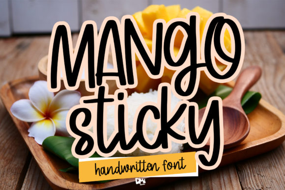 Print on Demand: Mango Sticky Script & Handwritten Font By dmletter31