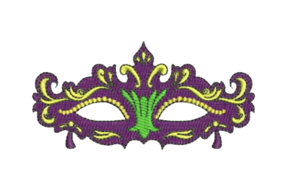 Mardi Gras Mask Embroidery Design By Embroidery Designs