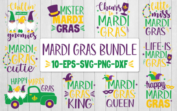 Mardi Gras Quote Bundle Graphic Crafts By All About Svg