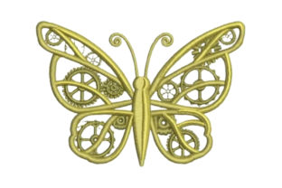 Mechanical Butterfly Bugs & Insects Embroidery Design By Embroidery Designs