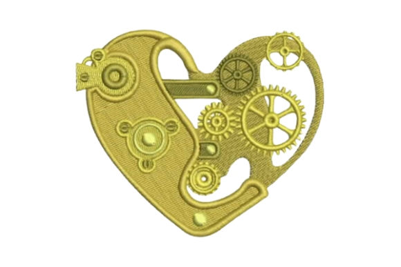 Mechanical Heart Valentine's Day Embroidery Design By Embroidery Designs - Image 1