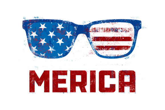 Merica Sunglasses 4th of July Graphic Illustrations By davgogoladze