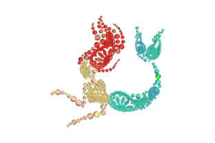 Mermaid Made of Paisley Paisley Embroidery Design By Embroidery Designs