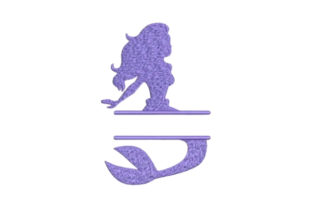 Mermaid Monogram Fairy Tales Embroidery Design By Embroidery Designs