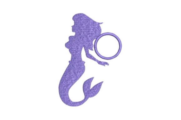 Mermaid Monogram Fairy Tales Embroidery Design By Embroidery Designs - Image 1