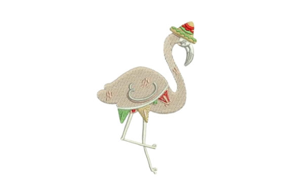 Mexican Flamingo Mexico Embroidery Design By Embroidery Designs - Image 1