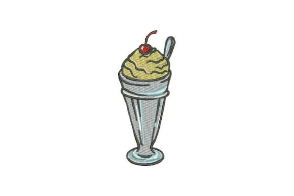 Milkshake Dessert & Sweets Embroidery Design By Embroidery Designs