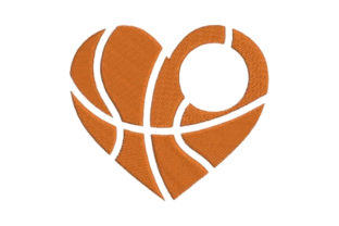 Monogram Frame Basketball Sports Embroidery Design By Embroidery Designs