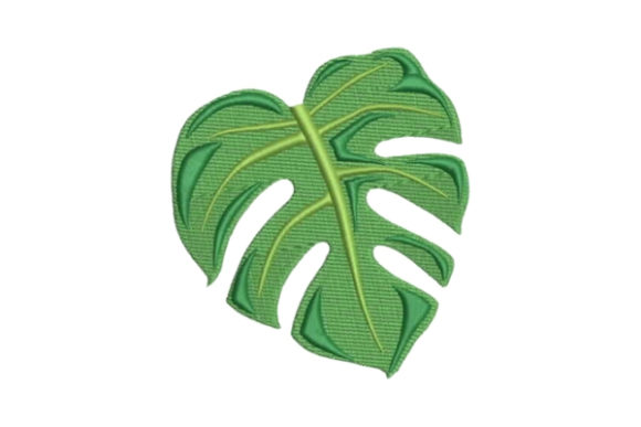 Monstera Leaf Forest & Trees Embroidery Design By Embroidery Designs