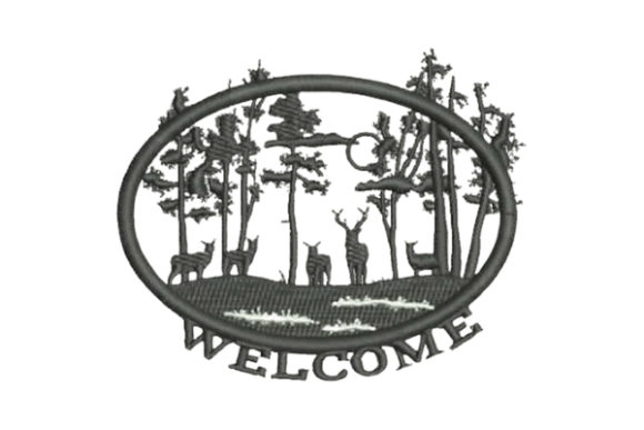 Nature Scene Welcome Autumn Embroidery Design By Embroidery Designs
