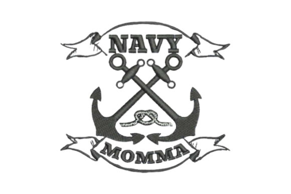 Navy Momma Mother Embroidery Design By Embroidery Designs - Image 1