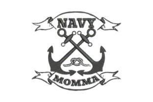 Navy Momma Mother Embroidery Design By Embroidery Designs