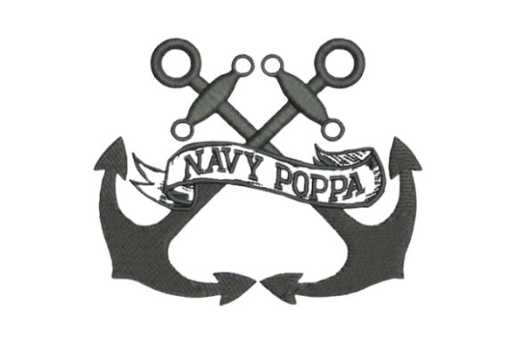 Navy Poppa Father Embroidery Design By Embroidery Designs - Image 1