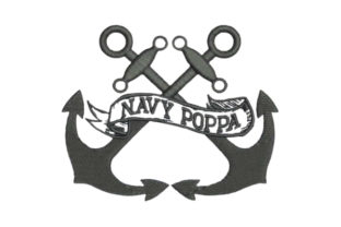 Navy Poppa Father Embroidery Design By Embroidery Designs