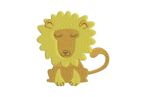 Nursery Lion Baby Animals Embroidery Design By Embroidery Designs