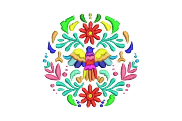 Otomi Bird Design Mexico Embroidery Design By Embroidery Designs - Image 1