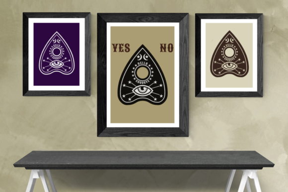 Ouija Board Planchette Graphic Crafts By DesignedByGeeks