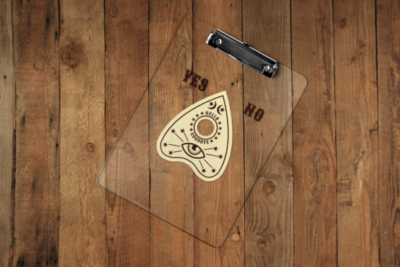 Download Free Ouija Board Planchette Graphic By Designedbygeeks Creative Fabrica for Cricut Explore, Silhouette and other cutting machines.