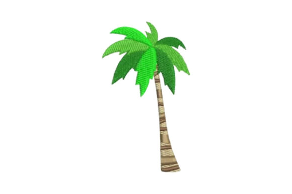 Palm Tree Beach & Nautical Embroidery Design By Embroidery Designs
