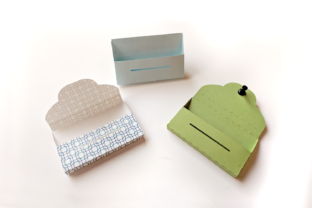 Paper Business Card Holder Graphic 3D Pillow Box By RisaRocksIt