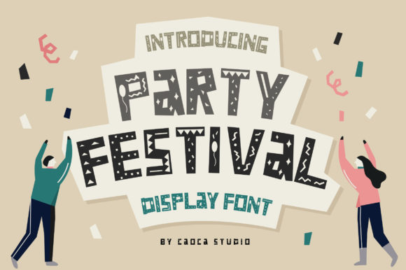 Print on Demand: Party Festival Display Font By Caoca Studios