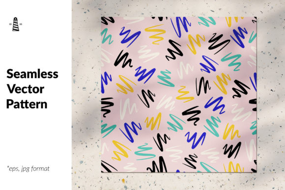 Print on Demand: Pencil Strokes Seamless Graphic Patterns By northseastudio
