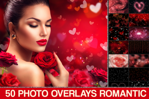 Photoshop Overlays Valentines Bokeh Graphic Layer Styles By 2SUNS