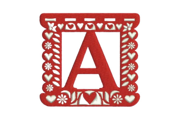 Papel Picado Alphabet a Mexico Embroidery Design By Embroidery Designs