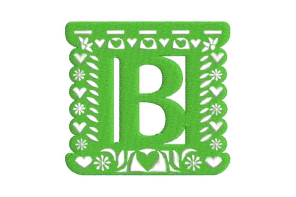 Papel Picado Alphabet B Mexico Embroidery Design By Embroidery Designs - Image 1