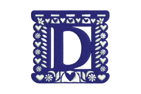 Papel Picado Alphabet D Mexico Embroidery Design By Embroidery Designs