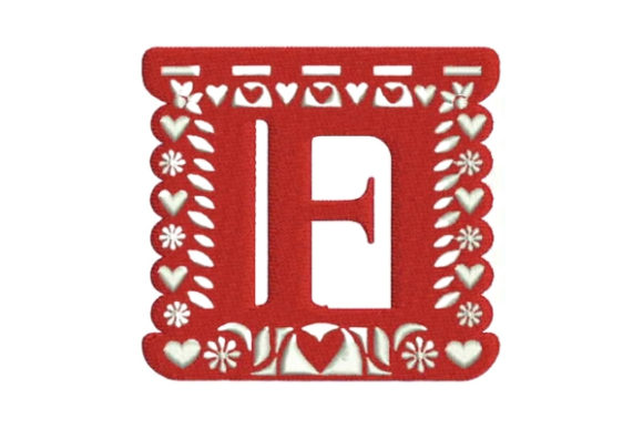 Papel Picado Alphabet F Mexico Embroidery Design By Embroidery Designs