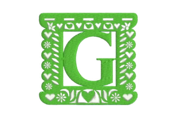 Papel Picado Alphabet G Mexico Embroidery Design By Embroidery Designs - Image 1