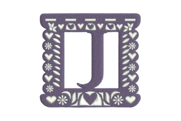 Papel Picado Alphabet J Mexico Embroidery Design By Embroidery Designs
