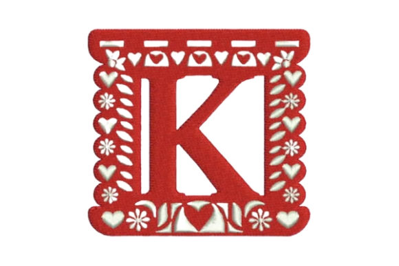 Papel Picado Alphabet K Mexico Embroidery Design By Embroidery Designs - Image 1