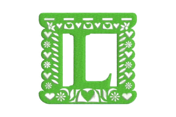 Papel Picado Alphabet L Mexico Embroidery Design By Embroidery Designs