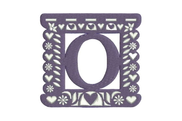Download Free Papel Picado Alphabet O Creative Fabrica for Cricut Explore, Silhouette and other cutting machines.