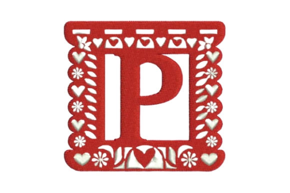 Picado Alphabet P Shapes Embroidery Design By Embroidery Designs