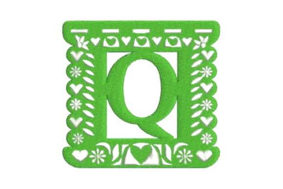 Papel Picado Alphabet Q Mexico Embroidery Design By Embroidery Designs