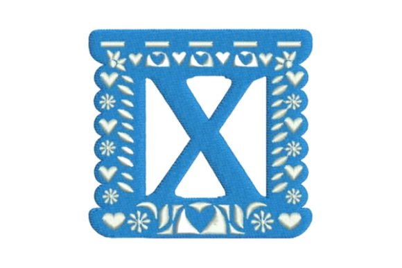 Papel Picado Alphabet X Mexico Embroidery Design By Embroidery Designs - Image 1