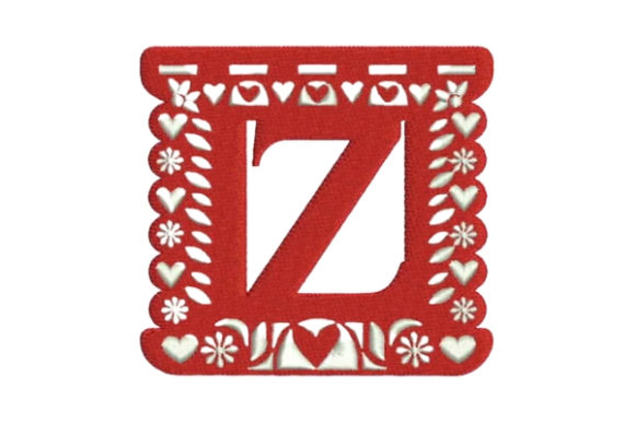 Papel Picado Alphabet Z Mexico Embroidery Design By Embroidery Designs - Image 1