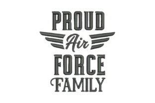 Proud Air Force Family Military Embroidery Design By Embroidery Designs