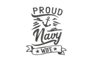 Proud Navy Wife Wife Embroidery Design By Embroidery Designs