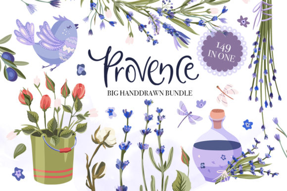 Print on Demand: Provence Hand-drawn Bundle Gráfico Ilustraciones Por Red Ink
