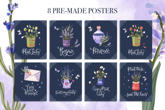 Print on Demand: Provence Hand-drawn Bundle Graphic Illustrations By Red Ink - Image 10