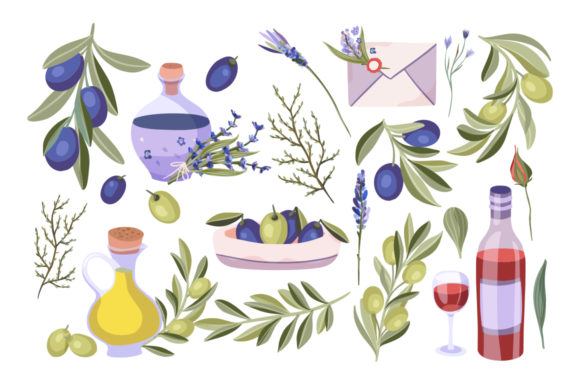 Print on Demand: Provence Hand-drawn Bundle Graphic Illustrations By Red Ink - Image 4
