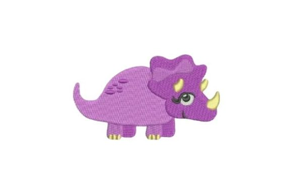Purple Dinosaur Girl Dinosaurios Diseños de bordado Por Embroidery Designs