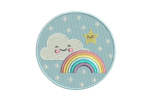 Rainbow Clouds Summer Embroidery Design By Embroidery Designs - Image 1