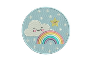 Rainbow Clouds Summer Embroidery Design By Embroidery Designs