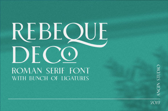 Print on Demand: Rebeque Deco Serif Font By Angin Studio - Image 1